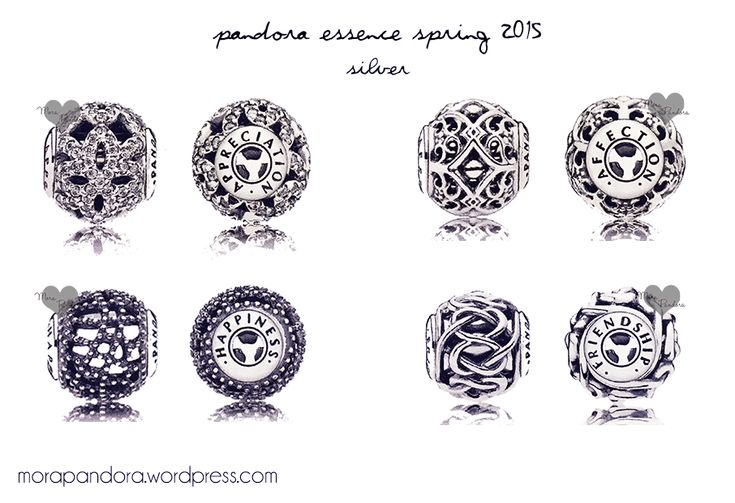 pandora essence spring 2015 collection silver charms