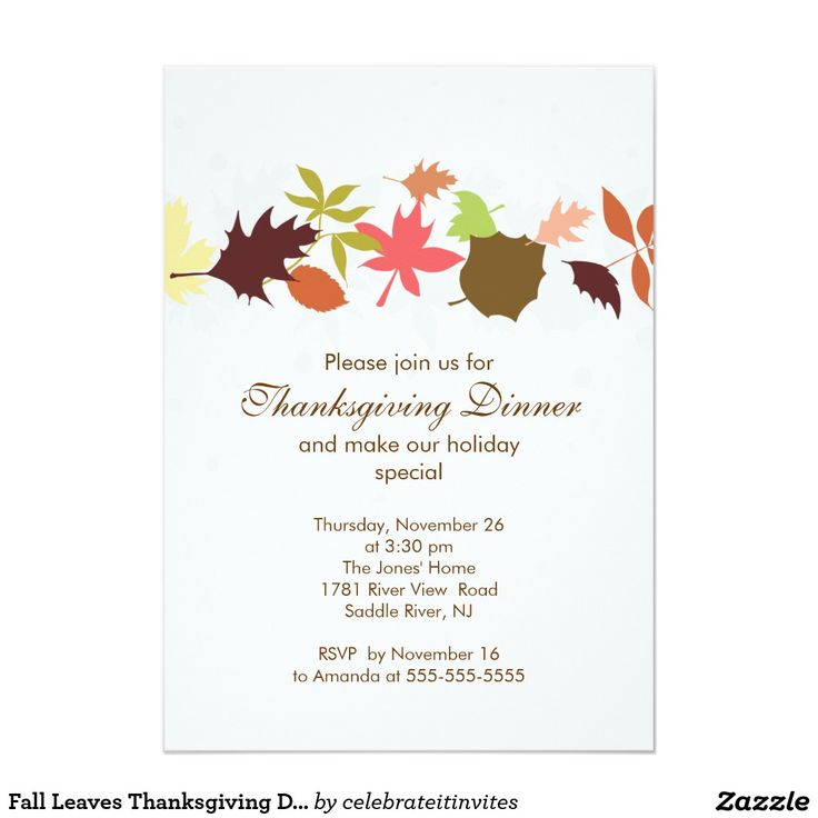 7 best thanksgiving celebration images on pinterest thanksgiving fall leaves thanksgiving dinner party card stopboris Image collections
