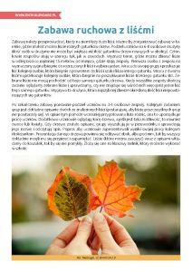 Pierwszy Dzień Jesieni – zabawa ruchowa z liśćmi. http://www.ekokalendarz.pl/pierwszy-dzien-jesieni-jesienny-pakiet-edukacyjny/
