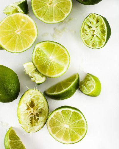 Pieces of lime prepared for squeezing