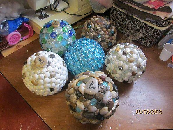 сад глобусы, Ремесла, каменщик банки, быстрая перемотка вперед шесть различных глобусы
