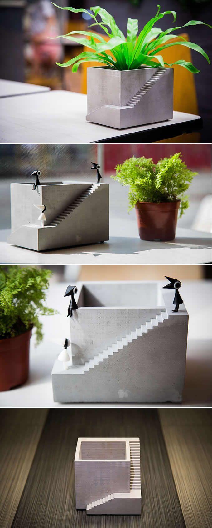 Handmade Concrete Succulent Planter / Plant Pot / Flower Pot / Bonsai Pot