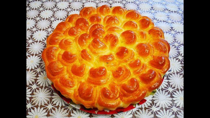ПИРОГ с ливером ХРИЗАНТЕМА пирог рецепт ВКУСНАЯ домашняя выпечка рецепт