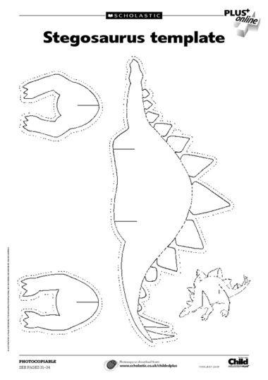 Stegosaurus Printable And Triceratops Skeleton Printable