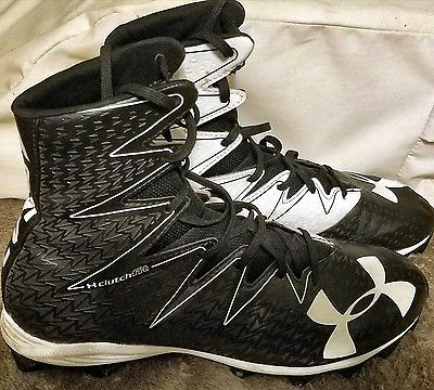 Under Armour high top football cleats, size 11
