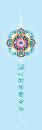 590** Podložka na jógu - modrá, potisk mandala