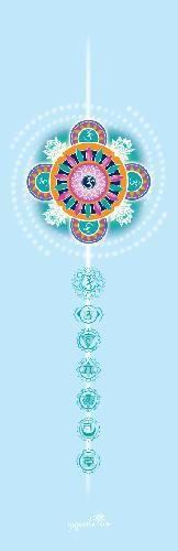 590**Podložka na jógu - modrá, potisk mandala