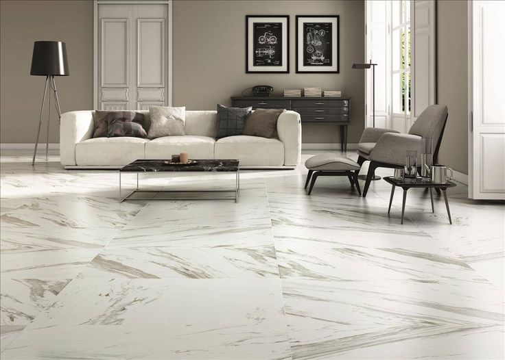 Enjoy the natural look of marble with these #beautiful #Spanish large format porcelain #tiles from an unbelievable $28m2. Pictured – Fedra Blanco Cacultta