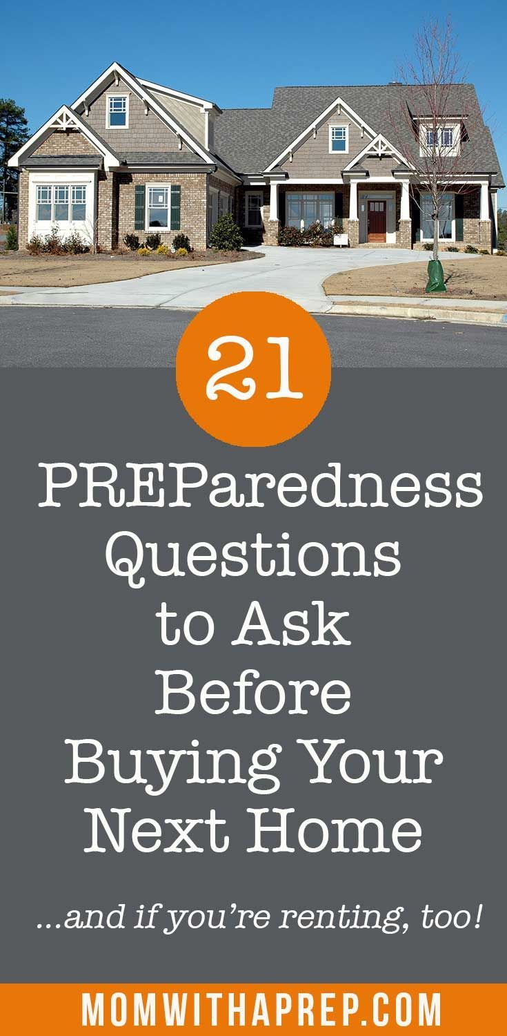 Buying a house? Remember these important 20 questions to ask before buying your next home - focus on preparedness ! #buyingahome #housebuying #realestatequestionstoask #momwithaprep via @momwithaprep