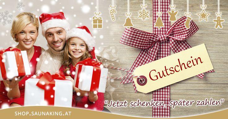 Noch kein Geschenk für Weihnachten?    SAUNA KING Weihnachtsgutschein ist das perkefte Last-Minute Geschenk!  Nach Bestellung schicken wir es Ihnen per Email AB SOFORT zu!    Jetzt schenken - später zahlen!   #Saunaking #Weihnachtsgutscheine