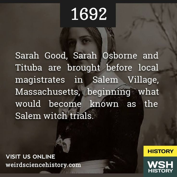 the story of tituba and the salem witch trials Witch hunt at the time, salem village was a small new england town populated mostly by puritans, or religious individuals with a belief in the devil the puritan way of life was strict, and even small differences in behavior made people suspicious.