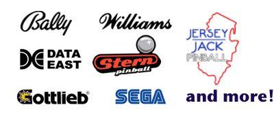 O.a. deze merken flipperkasten zullen aanwezig zijn op het Dutch Pinball Open 2014!