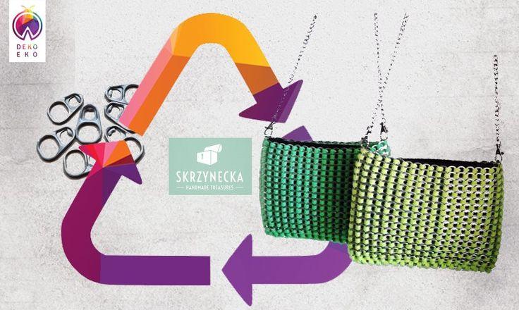 Zielona torebka z kluczyków od puszek | http://dekoeko.com/product/zielona-torebka-z-kluczykow-od-puszek/ | Kup na www.dekoeko.com