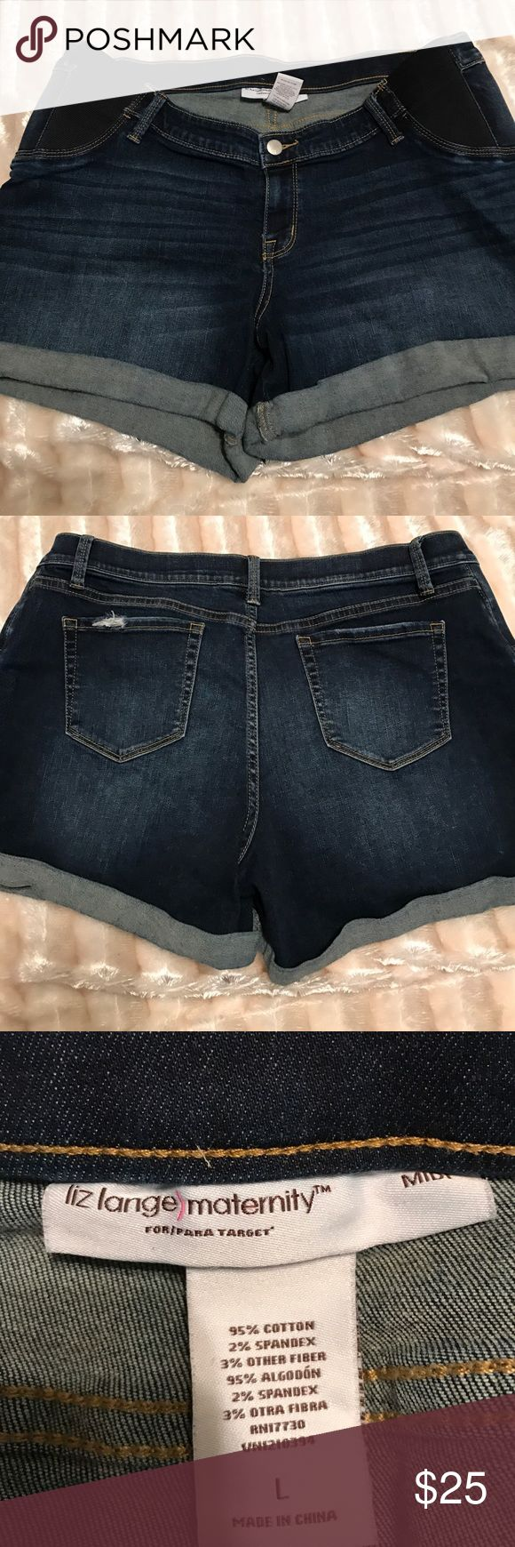 Maternity shorts Maternity shorts from Liz Lange size L GUC super cute Shorts Jean Shorts