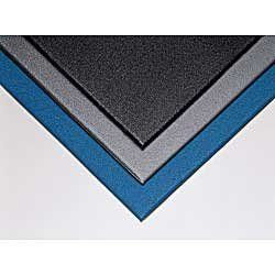 """CROWN Comfort King Anti-Fatigue Mats - Blue by Comfort King. $56.00. Comfort King Anti-Fatigue Mats feature innovative Zedlan vinyl foam material that provides greater """"bounce"""" and cushioning. Durable, slip-resistant mats are extremely resilient in cold temperatures. Static-dissipative surface resistivity of 109 ohms per square. Use in dry areas and around chemicals."""