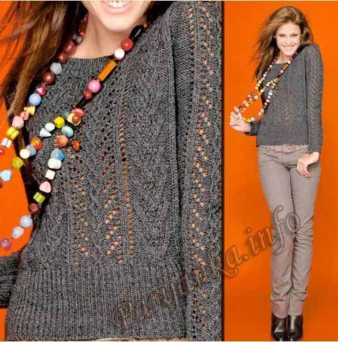 Пуловер (ж) 911 Creations 08/09 Bergere de France №3628