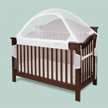 The Tots in Mind Cozy Crib Tent for Convertible Cribs with Inside Surround Net offers peace of mind for you and your infant or active toddler! $74.99