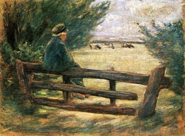 Boy With Cows, Max Liebermann