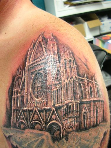 40 best gothic church tattoo images on pinterest. Black Bedroom Furniture Sets. Home Design Ideas