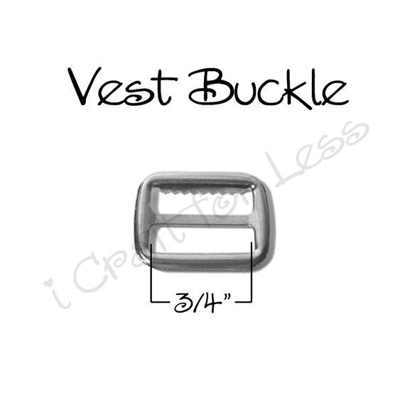 Vest Buckles / Suspender Slide Adjusters with Teeth Size: 3/4 Inch (inside measurement) Color: Silver (Nickel Plated) Qty. 100 *♥* *♥* *♥* *♥* *♥* *♥* *♥* *♥* *♥* *♥* *♥* *♥* *♥* *♥* *♥* *♥* *♥* *♥* COUPON CODES:  THANKYOU10 - FOR ORDERS OVER $50 THANKYOU15 - FOR ORDERS OVER $150  *♥* *♥* *♥* *♥* *♥* *♥* *♥* *♥* *♥* *♥* *♥* *♥* *♥* *♥* *♥* *♥* *♥* *♥* This listing is for 100 (one-hundred) vest buckles / suspender slide adjusters in silver metal (nickel plated). This is perfect for making…
