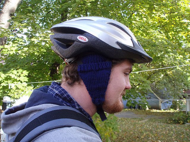 Awesome........Bike Helmet Earmuffs   FREE Pattern