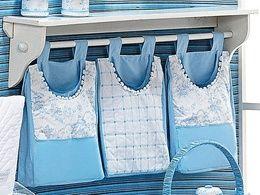 Porta fraldas de tecido: passo a passo
