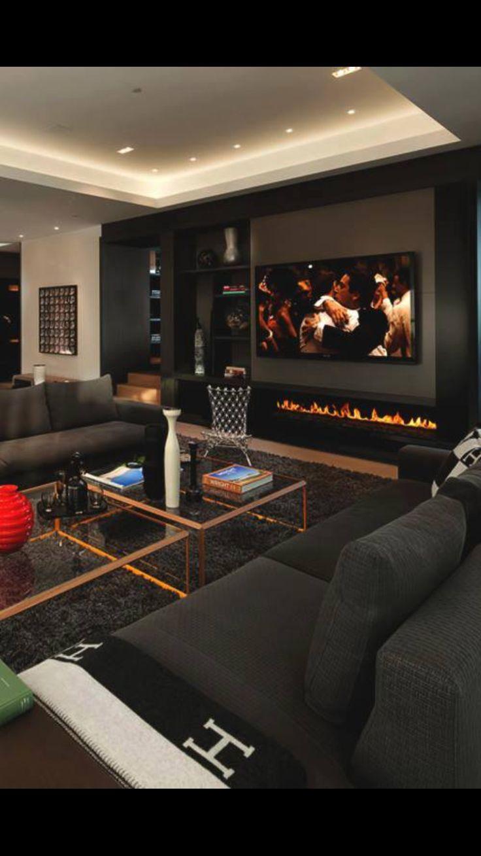 Die Dunkelere Seite Vom Wohnzimmer Design
