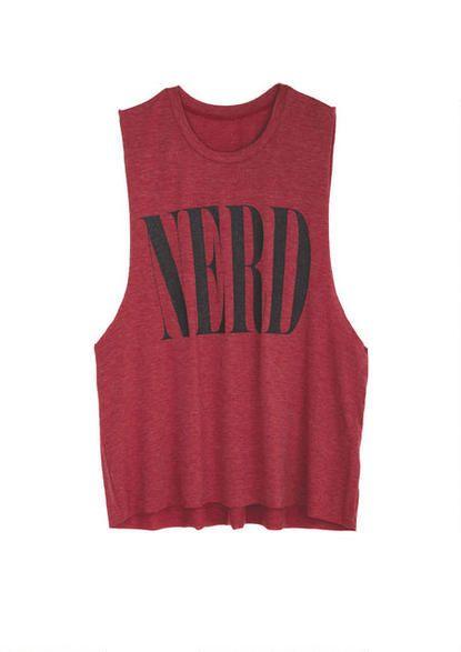 Sparkle Nerd Muscle Tank - View All Graphic Tees - Graphic Tees - Clothing - dELiA*s