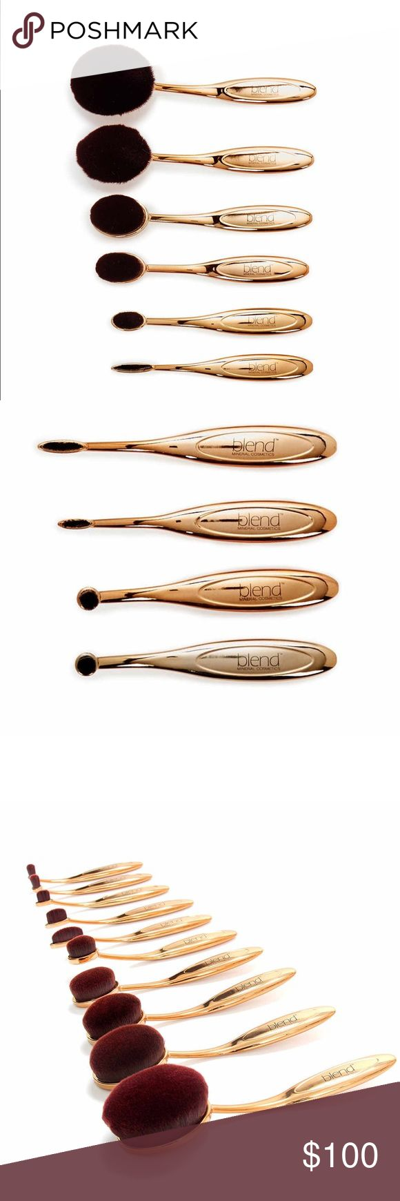 Gold Wow Artist 10-Piece Oval Brush Set Material consists of a synthetic fiber brush. These brushes are compatible with any type of foundation,bb cream, powder, blush, etc. Super densely packed ultra fine fiber delivers streak free, flawless coverage. Its not available for purchase, but I want to know how many would be, because I don't know if I should keep them (and possibly use them) or sell them to someone who will use them more often. Please like and/or comment to let me know if I should…