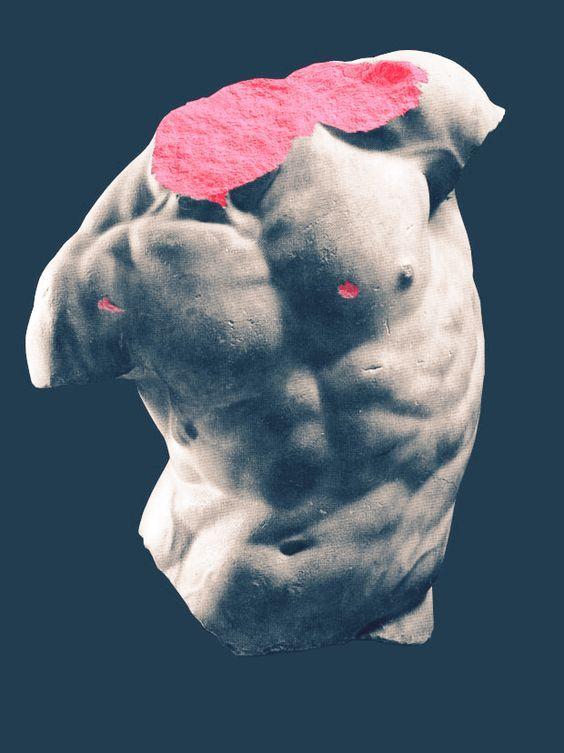 gaddi torso | glitch | vaporwave | cyberpunk | pastel goth | seapunk | #art