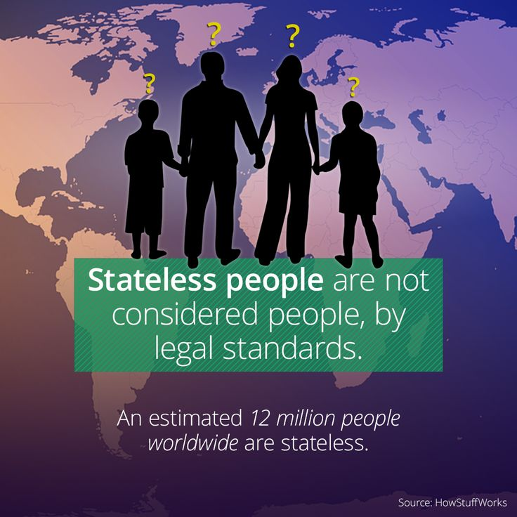 Stateless People Aren't Actual People In The Eyes Of The Law