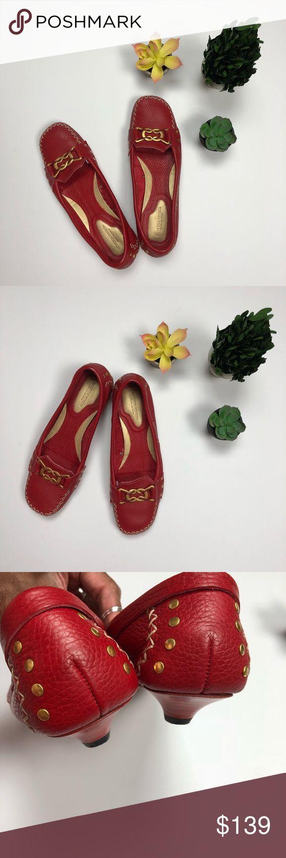{BOTTEGA VENETA} RED KITTEN HEEL SHOES Adorable shoes for work, every day or err… – My Posh Picks