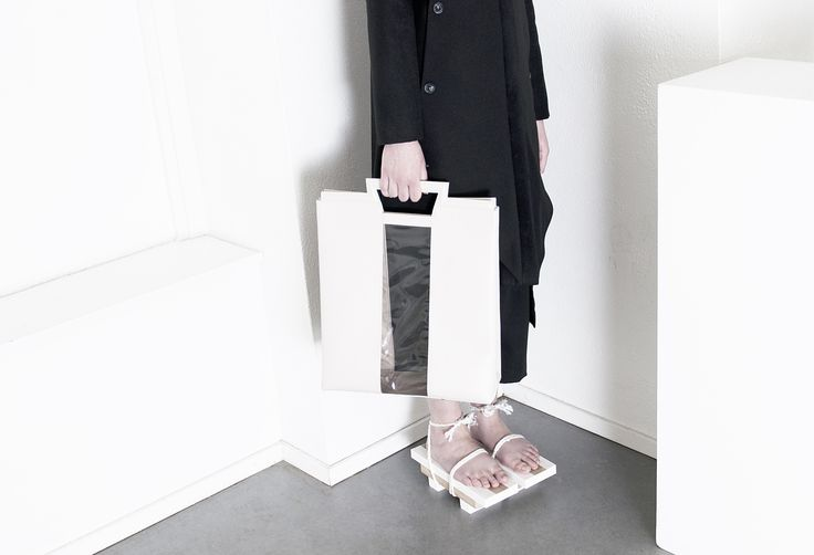 AW14/15 Forms of Boundaries Leather bag by ORPHAN BIRD  #orphanbird #aw14 #lethearbag #minimalism #contemporary #fashion #accessories #fashionportrait #minimalistic #whiteonwhite #platformshoes #whitespace #emergingdesigner #fashion