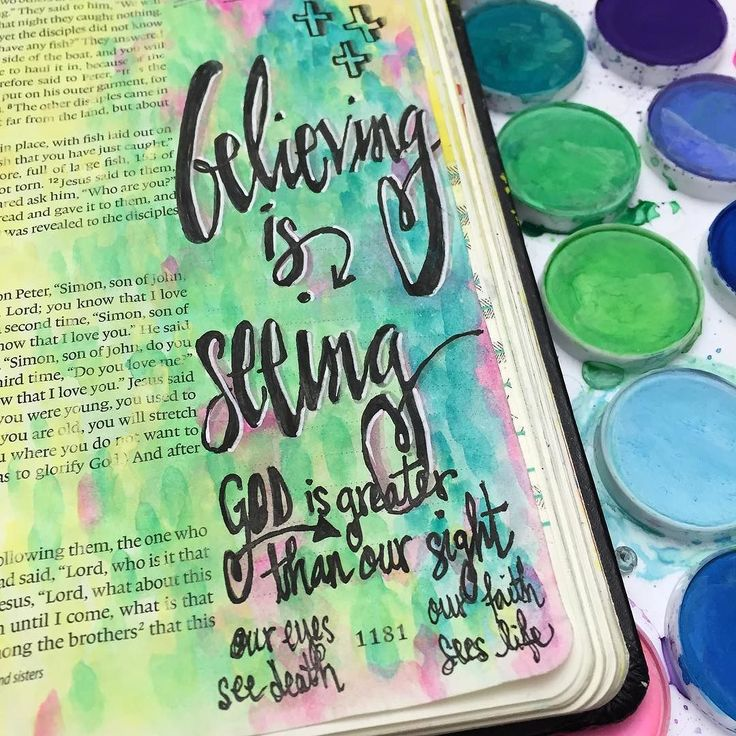 """Sunday sermon bible journaling. John 20:19-31. """"Blessed are those who have not seen and yet have believed."""" Believing is seeing! Our physical eyes see only death in this present fallen world but God is greater than our sight - with eyes of faith we see light and life! #illustratedfaith #journalingbiblecommunity #biblejournalingcommunity #biblejournaling #journalingbible http://ift.tt/1KAavV3"""