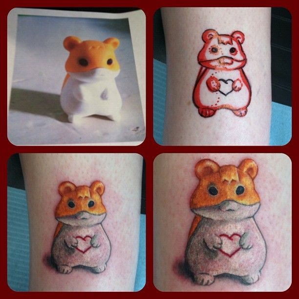 cute little hamster tattoo tattoos work nofilter taken with picture tattoo pinterest. Black Bedroom Furniture Sets. Home Design Ideas