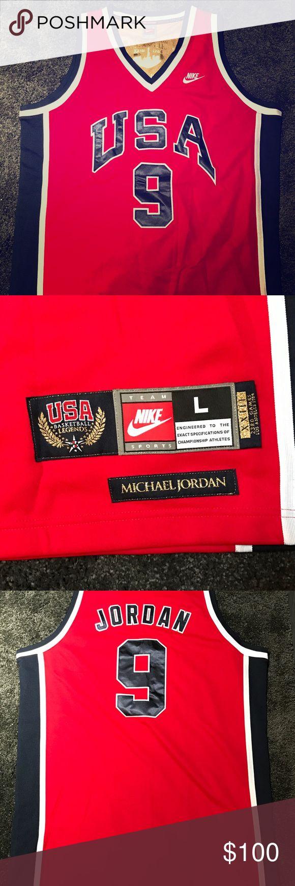 more photos a4e2b 155c9 1984 olympics team usa 9 michael jordan red swingman jersey