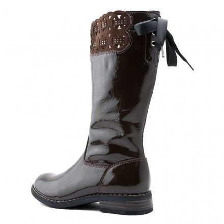Laser, Brown Patent Girls Zip-up Boots - Girls Boots - Girls Shoes http://www.startriteshoes.com/girls-shoes/boots/laser-brown-girls-zip-boots