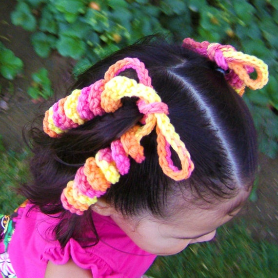 Crochet Hair Ties : hair ties