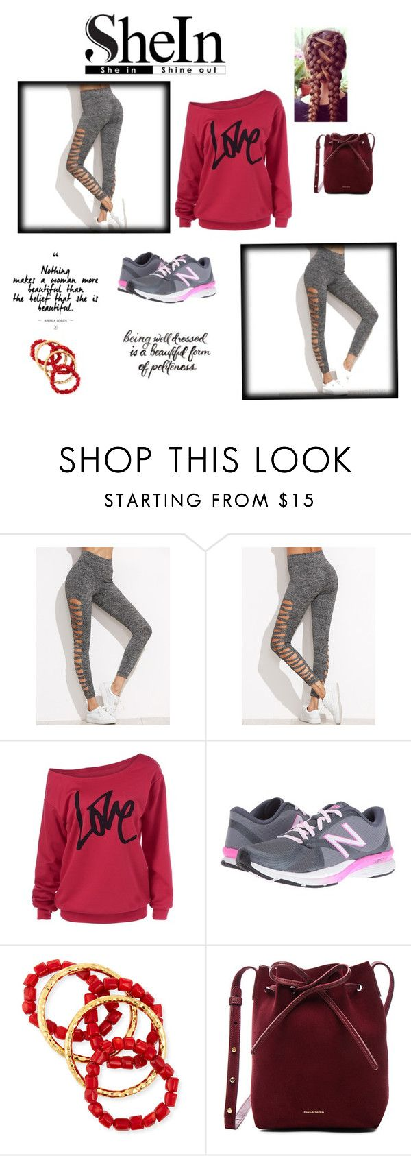 """cinza leggings"" by daianetavares310 on Polyvore featuring moda, New Balance, NEST Jewelry e Mansur Gavriel"