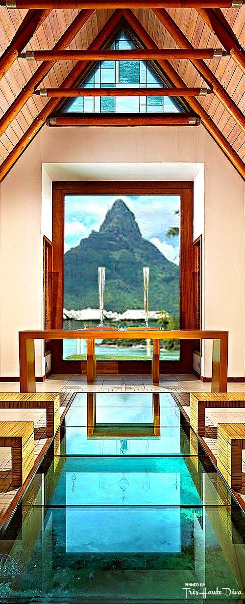 The Overwater Wedding Chapel with Glass Bottom at the InterContinental Bora Bora Resort & Thalasso Spa — Très Haute Diva