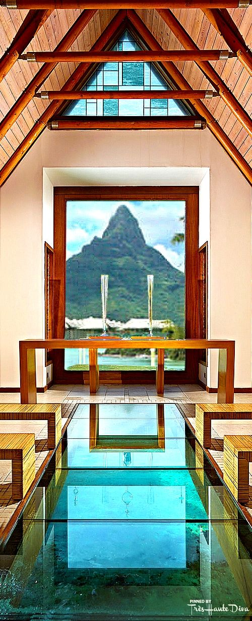 The Overwater Wedding Chapel with Glass Bottom at the InterContinental Bora Bora Resort & Thalasso Spa — Très Haute Diva