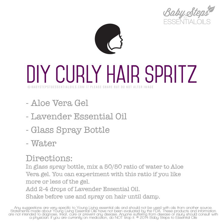 DIY Curly Hair Spritz with Young Living Essential Oils Thanks to: http://www.hopehelmsblog.com/2014/09/diy-lavender-hair-spritzer/