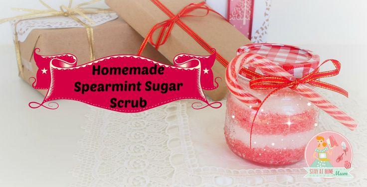 Homemade Spearmint Sugar Scrub | Stay at Home Mum