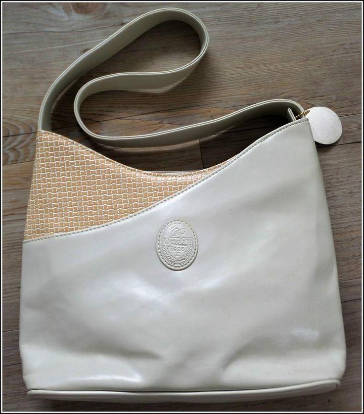 VINTAGE 90s OTTOBRE 1928 beige ITALIAN PU LEATHER Hermes Australia SHOULDER BAG