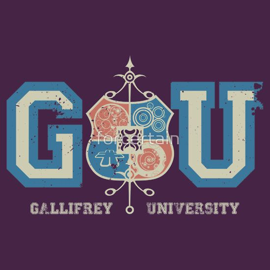 """GU Gallifrey University"" T-Shirts & Hoodies by forcertain   Redbubble"