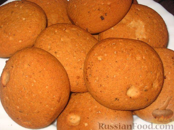 Рецепт: Пышное овсяное печенье с белым шоколадом на RussianFood.com