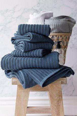 Ellos Home Håndklædesæt Ribb i 6 dele