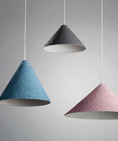 spritz hanging lamps by yuval tzur embody an earthy texture
