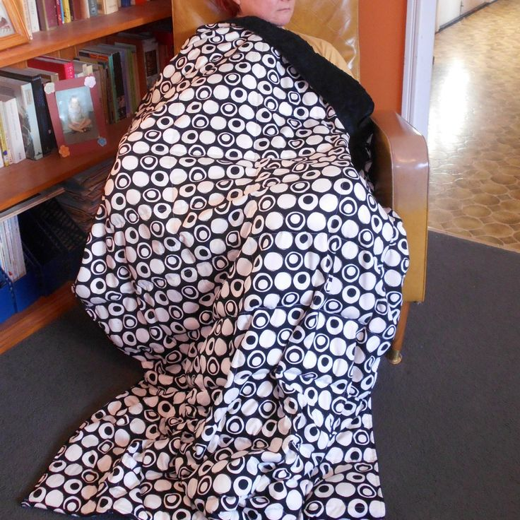 6 kg custom size 160 x 110 cm weighted blanket. Cotton & minky dot fabrics. $166 + delivery. This fabric sold out but hundreds more to choose from.