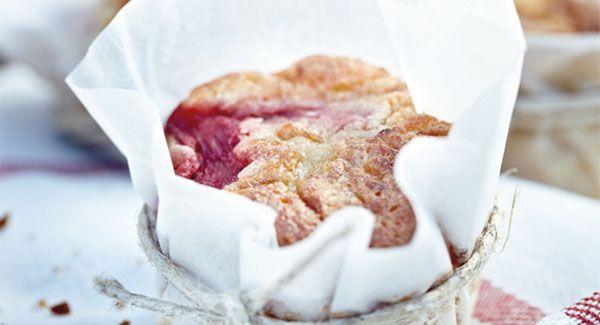 Rabarbermuffins - lækker opskrift